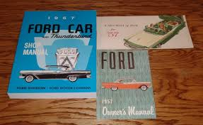1957 ford car shop service owners manual sales brochure lot of 3