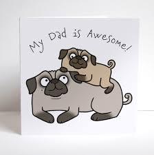 birthday pug card birthday card
