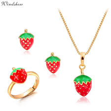 pendant necklace earring images Buy baby kids children girl jewelry sets gold jpg
