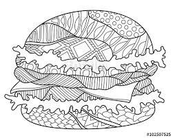 hamburger zentangle coloring