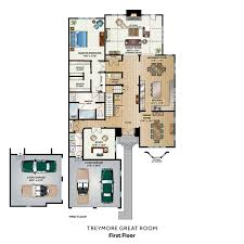 great room floor plans custom carriage home the treymore great room the carriage