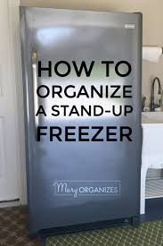 How To Organize A Garage How To Organize A Stand Up Freezer In The Garage