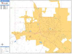 zip code map harlingen tx harlingen texas zip code wall map basic style by marketmaps
