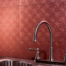 Decorative Backsplash Fasade 24 In X 18 In Traditional 1 Pvc Decorative Backsplash