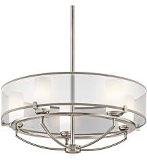 Kichler Lighting Chandeliers Kichler 42921clp Saldana Classic Pewter 24 Inch 5 Light