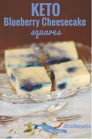 keto blueberry cheesecake squares using the stick blender