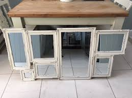 large oliver bonas cream shabby chic wall mirror in clapham