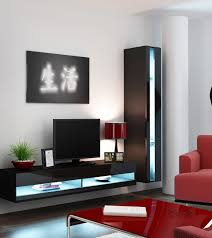 Living Room Glass Tv Cabinet Designs Living Room Futuristic Furniture Glass Television Wall Stand Gray