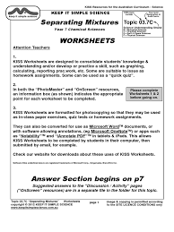 Mixture Word Problems Worksheet Worksheets 03 7c Mixtures Solution Filtration