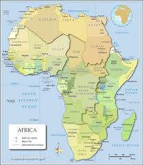 Physical Features Map Of Africa by Map Of Africa Countries Of Africa Nations Online Project
