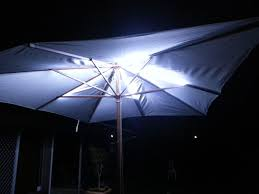 Led Patio Umbrella by Led Outdoor Umbrella Lighting 4 Steps With Pictures