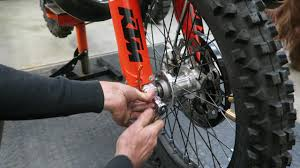ktm dirt bike front wheel installation youtube