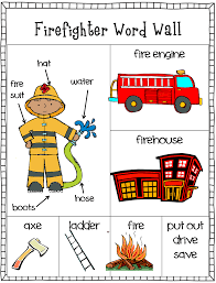 free firefighter writing center word wall and stationary part of