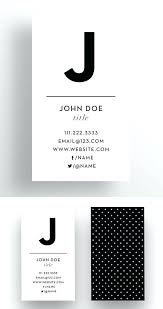 mesmerizing simple business card template word free printable