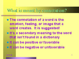 what is meant by connotation