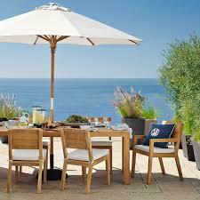 Patio Furniture Umbrella Larnaca Outdoor Teak Extendable Dining Table Williams Sonoma