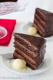 supreme chocolate cake with chocolate mousse filling sweet