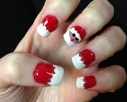 christmas santa face nail art designs ideas u0026 stickers 2015