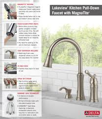 Kitchen Faucet With Soap Dispenser Delta Lakeview Single Handle Pull Down Sprayer Kitchen Faucet With