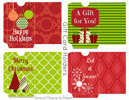 free printable gift tags u0026 gift card holders second chance to dream