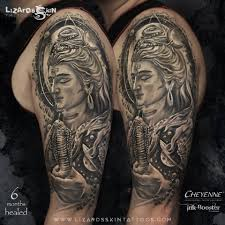 lord shiva lizard s skin tattoos