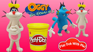 oggy cockroaches play doh olivia play doh
