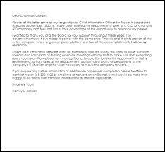 board resignation letter template corporate officer resignation letter livecareer