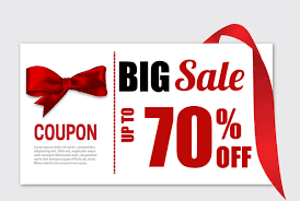 ribbon sale big sale coupon banner with knot ribbon free vector in adobe
