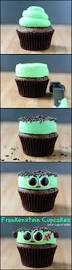 Spooky Halloween Cake Frankenstein Cupcakes Recipe Frankenstein Sprinkles And Eye