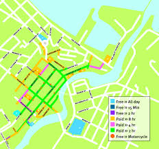 Map Of Benghazi Parking Zones U0026 Charges Townsville City Council