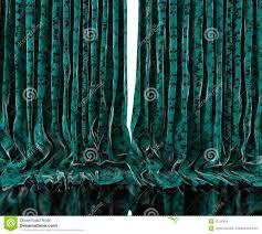 Vintage Green Curtains Vintage Floral Curtains Background Stock Illustration Image