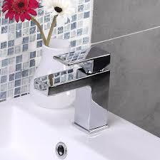 enki modern square designer bath filler tap shower head basin