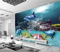 si e de mural großhandel benutzerdefinierte 3d wallpaper unterwasserwelt