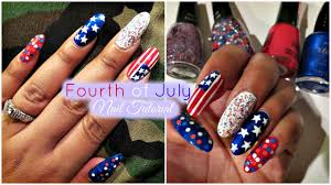 fourth of july nails 4th of july nail idea youtube