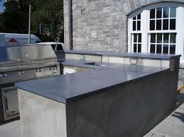 Concrete Kitchen Island by Blue Gray Concrete Countertops For Outdoor Kitchen Brooks Custom