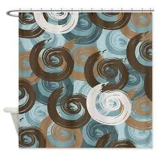 teal and brown shower curtain curtains wall decor