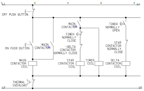 circuit of a delta or wye delta electric motor
