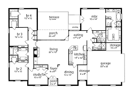 Floor Plan  Bedrooms Single Story Five Bedroom Tudor Dream - 5 bedroom house floor plans