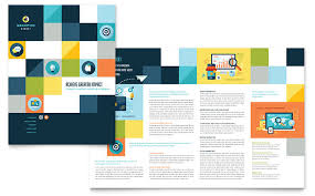 brochure templates for it company corporate bi fold brochure