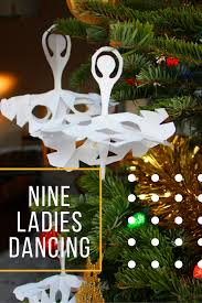nine ladies dancing 12 days of christmas paper craft group