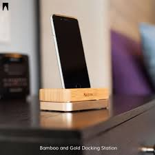 the perfect bedside companion our bamboo and gold docking station