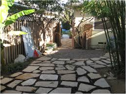 backyards wonderful flagstone and gravel cant be trampled by
