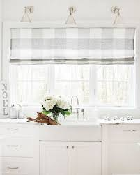 Grey And White Kitchen Curtains by Marvellous Kitchen Curtains Over Sink Grey Plaid Pattern Curtains