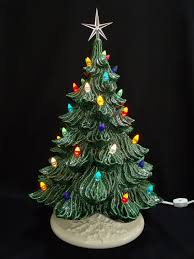 ceramic christmas tree with lights classic ceramic christmas tree w box 19 in