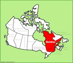 World Map Cartoon by Quebec Province Location On The Canada Map