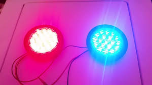 star signal emergency lights pair of star signal ldhef 4 red blue led lights youtube