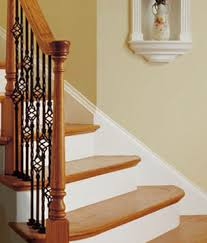 Iron Handrail For Stairs Stair Parts Wood Railings Balusters Newels Stairs