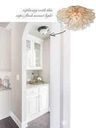 capiz flush mount light improving builder grade light fixtures to affordable transitional