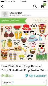 Printable Hawaiian Decorations Pdf Hawaiian Luau Photo Booth Props Printable By Chelawilliams
