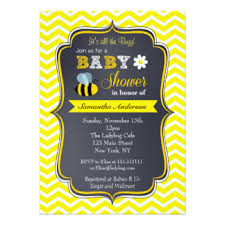 bee baby shower bumble bee baby shower invitations announcements zazzle